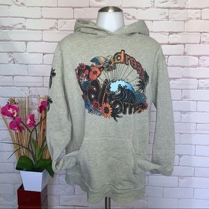FREECITY Dream California Sweatshirt Hoodie Grey